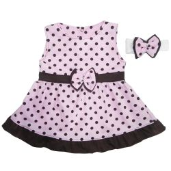 Vestido para Bebê Nina Rosa Poá