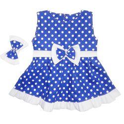 Vestido para Bebê Nina Royal Poá