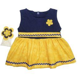 Vestido para Bebê Manu Marinho e Amarelo