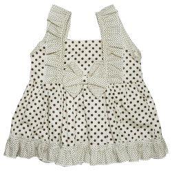 Vestido para Bebê Clarinha Palha Poá