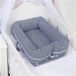 Ninho para Bebê Redutor de Berço Chevron Marinho