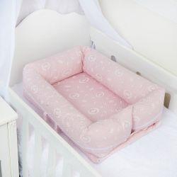 Ninho para Bebê Redutor de Berço Coroa Rosa