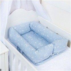 Ninho para Bebê Redutor de Berço Coroa Azul