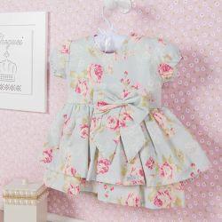 Vestido para Bebê Floral Candy 9 a 12 Meses