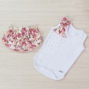 Conjunto Body e Short Floral