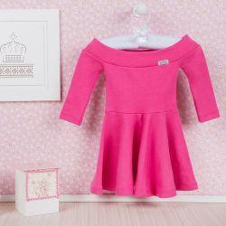 Vestido para Bebê Manga Longa Pink