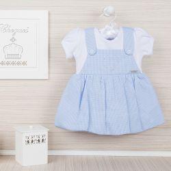Vestido Body Xadrez Azul Bebê