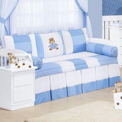 Kit Cama Babá Príncipe Urso Azul