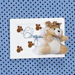 Porta Maternidade Cheguei Príncipe Urso Azul