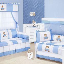 Quarto de Bebê sem Cama Babá Príncipe Urso Azul