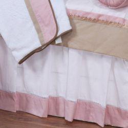 Saia para Cama Realeza Rosé Luxo