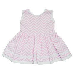 Vestido para Bebê Chevron Rosa