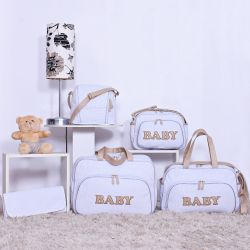 Conjunto de Bolsas Maternidade New Baby Branco