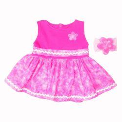 Vestido para Bebê Manu Pink