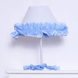 Abajur Sonho Meu Branco e Azul
