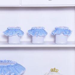Jogo de Potes Sonho Meu Branco e Azul