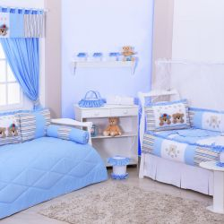 Quarto de Bebê sem Cama Babá Stars Azul