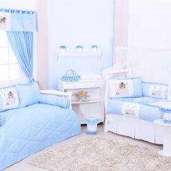 Quarto de Bebê sem Cama Babá Sapequinha Azul