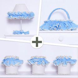 Kit Acessórios Sonho Meu Azul e Palha