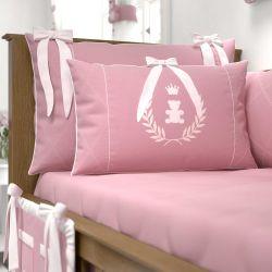 Mini Cabeceira Realeza Rosa Premium