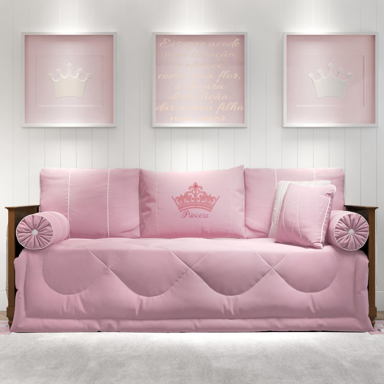 6cf7281717 Kit Cama Babá Princesa Rosa Premium