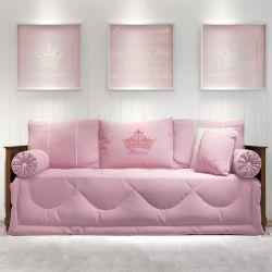 Kit Cama Babá Princesa Rosa Premium