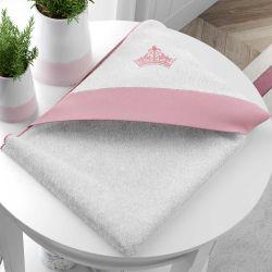 Toalha com Capuz Princesa Rosa Premium