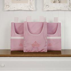 Porta Fraldas Varão Princesa Rosa Premium