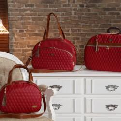 Conjunto de Bolsas Maternidade Realeza Vermelha