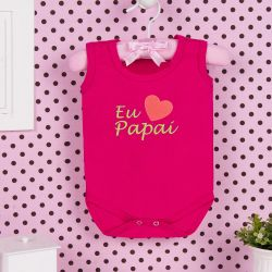 Body Regata Eu Amo o Papai Pink