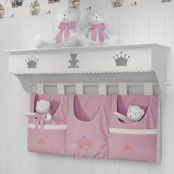 Prateleira Completa Princesa Rosa Premium