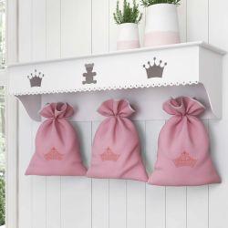 Prateleira Completa Saquinho Princesa Rosa Premium