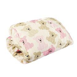 Capa de Bebê Conforto Ursinha Soninho Rosa