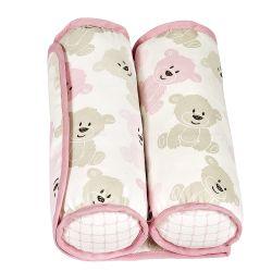 Rolinho Protetor Segura Bebê Ursinha Soninho Rosa