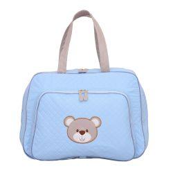 Mala Maternidade Urso Fofinho Azul 46cm