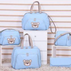 Conjunto de Bolsas Maternidade Urso Fofinho Azul
