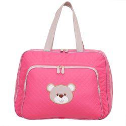 Mala Maternidade Ursa Fofinha Pink 46cm