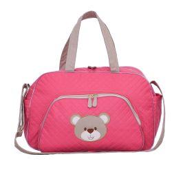 Bolsa Maternidade Ursa Fofinha Pink 44cm