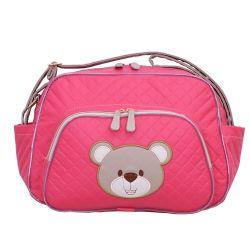 Bolsa Maternidade Ursa Fofinha Pink 33cm