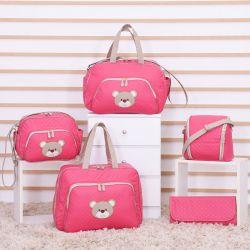 Conjunto de Bolsas Maternidade Ursa Fofinha Pink
