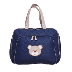 Mala Maternidade Urso Fofinho Azul Marinho 46cm