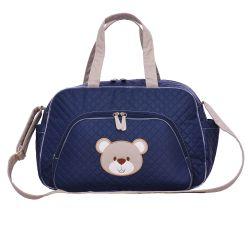 Bolsa Maternidade Urso Fofinho Azul Marinho G