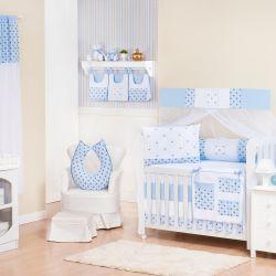Quarto de Bebê sem Cama Babá Império Azul