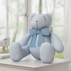 Urso Gravata Azul Nino e a Pipa 34cm