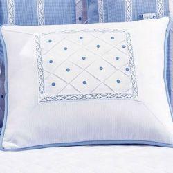 Almofada Decorativa Renda Joãozinho Azul Bebê
