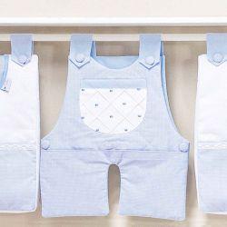 Porta Fraldas Varão Joãozinho Azul Bebê