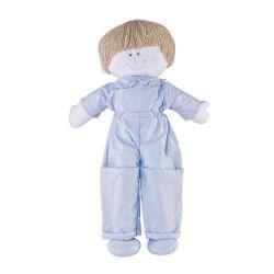 Porta Fraldas Boneco Joãozinho Azul Bebê