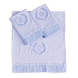 Jogo de Fraldas de Boca Malha Joãozinho Azul Bebê