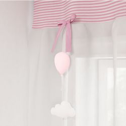 Pêndulos Cortina Nuvem e Balão Rosa
