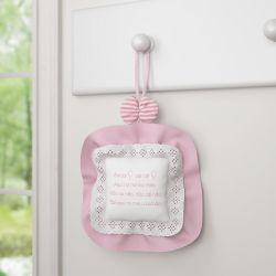 Porta Maternidade Cai Cai Balão Rosa